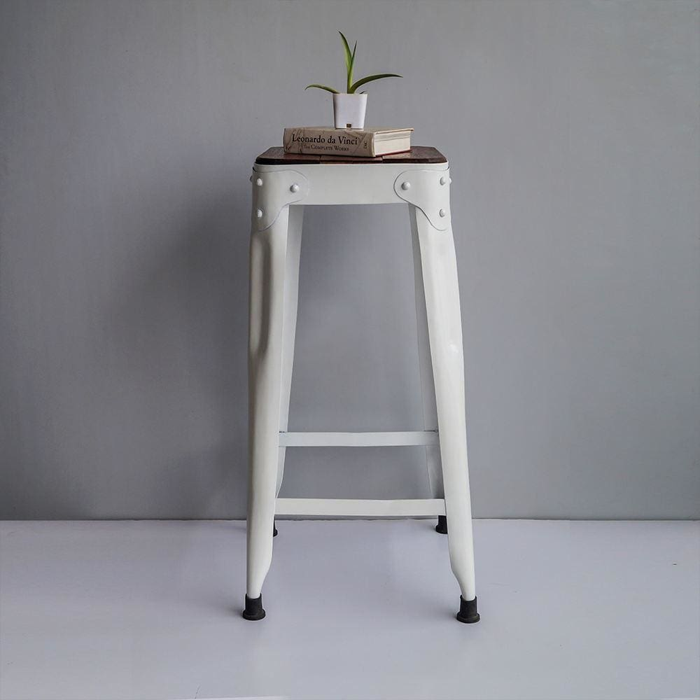 Industrial Bar Furniture Power House | White Bar Stool