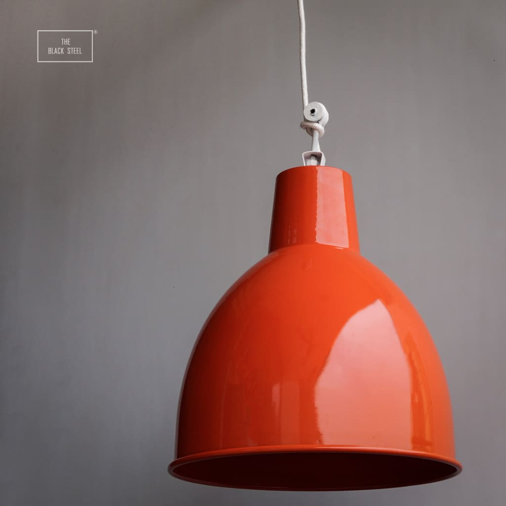 14 Inch American Urban Modern Fluorescent Orange Lamp
