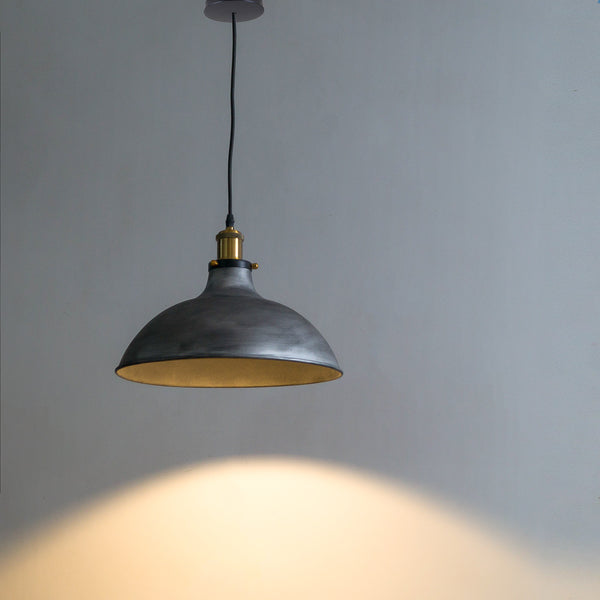Grey Hanging Light Fixture - The Black Steel