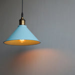 "Conical 10"" Scandinavian Minimal Hanging Lamp - The Black Steel"