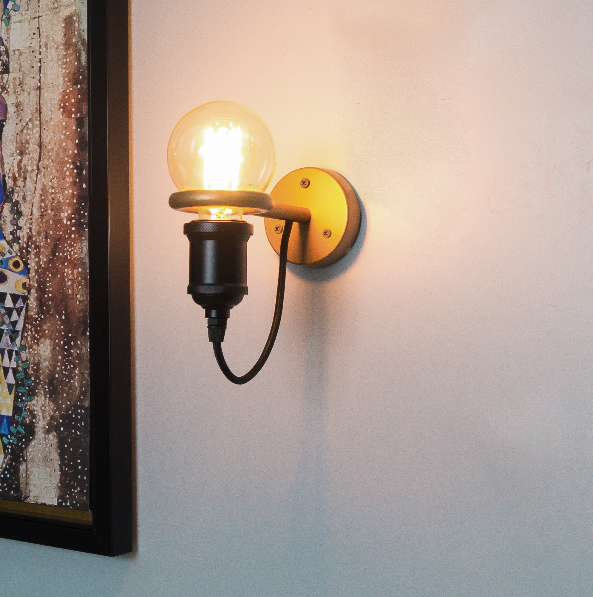 CWS103 Nile Golden Ring Wall Lamp