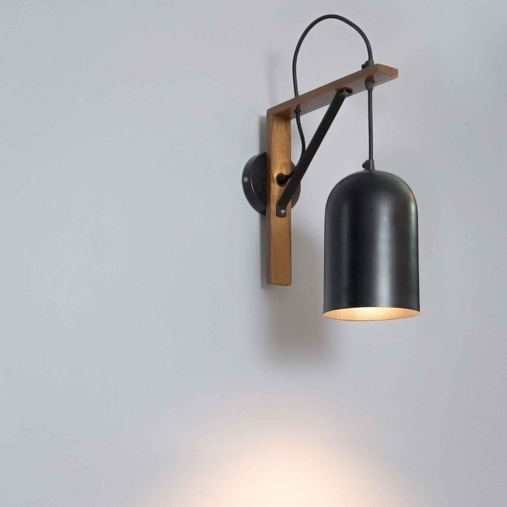 Creative Loft Apartment Hanging Wall Sconce - The Black Steel