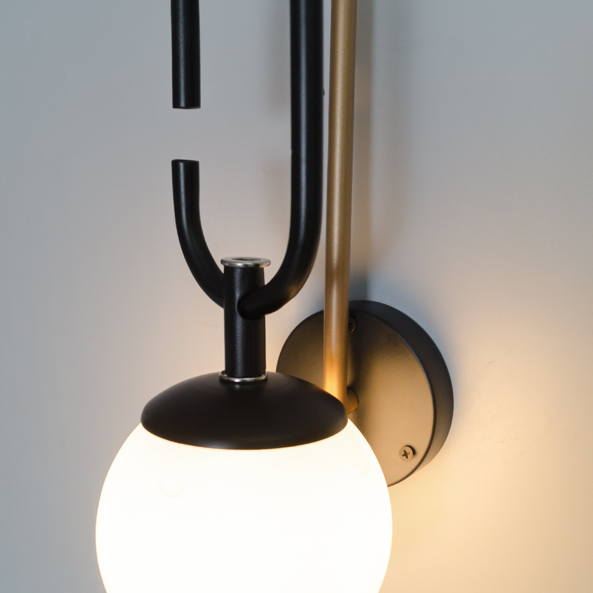 Vivid Torus Glass Wall Sconce - The Black Steel