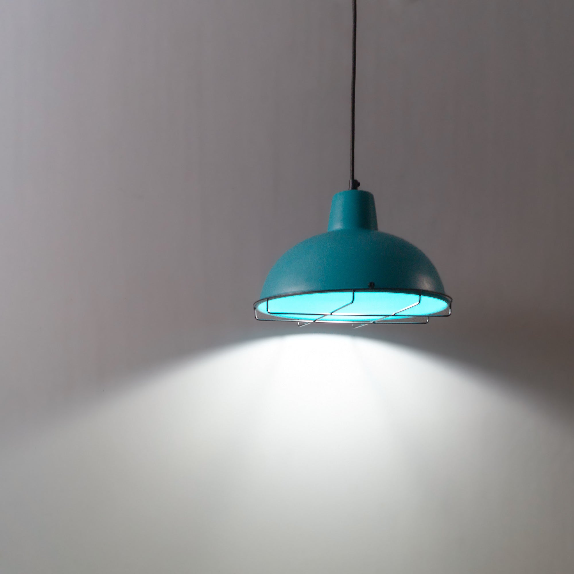 modern interior design blue lights turquoise lamps theblacksteel