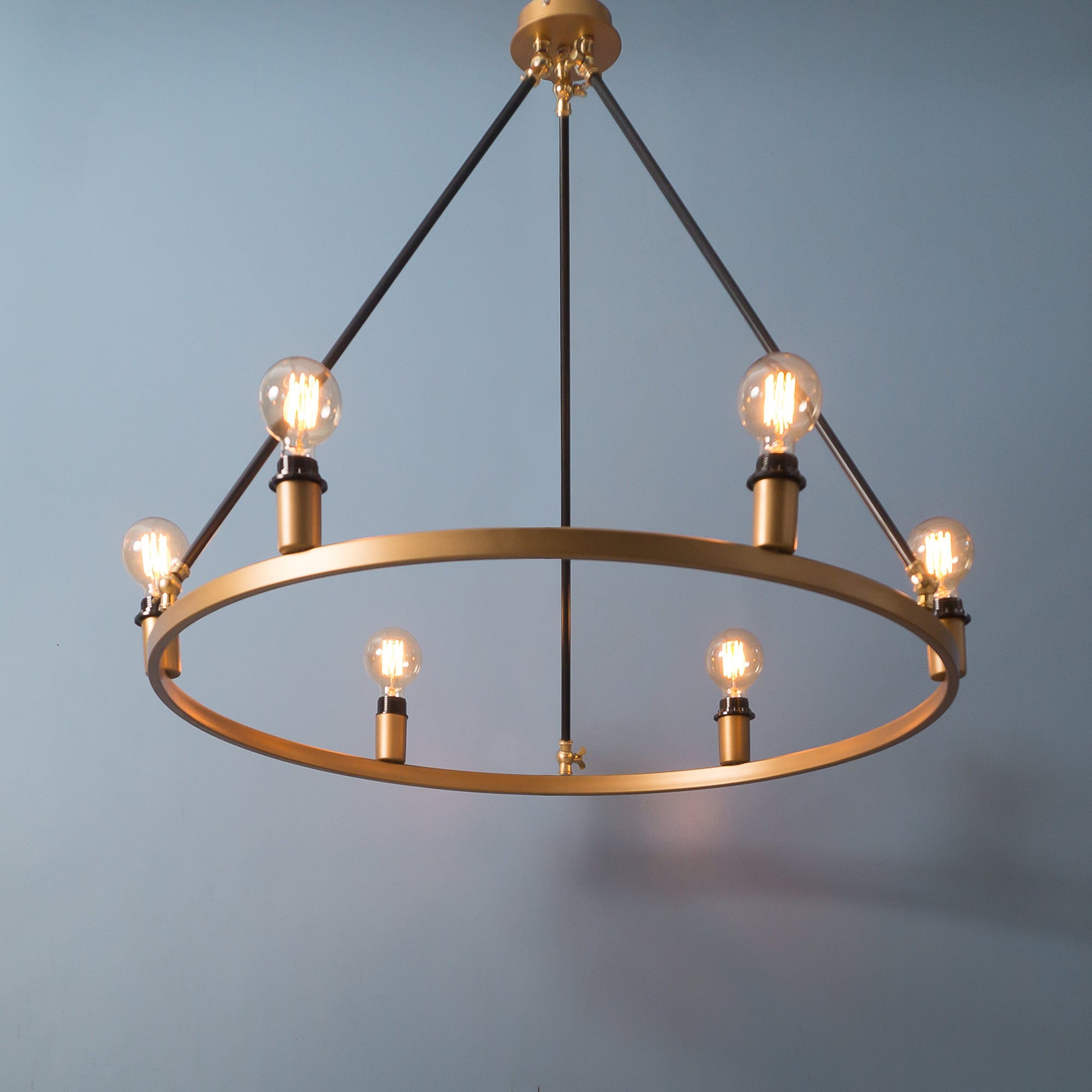 CLR109 Vintage Gold and Black Chandelier