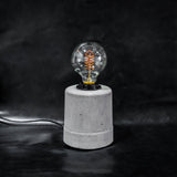 concrete desk lamp industrial theblacksteel concrete interior design