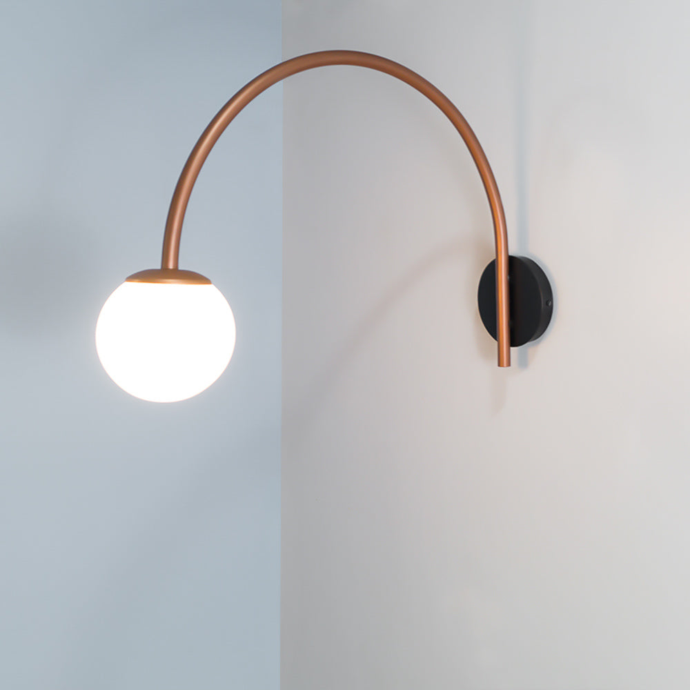 CWS101 Dijon Curved Wall Lamp Copper
