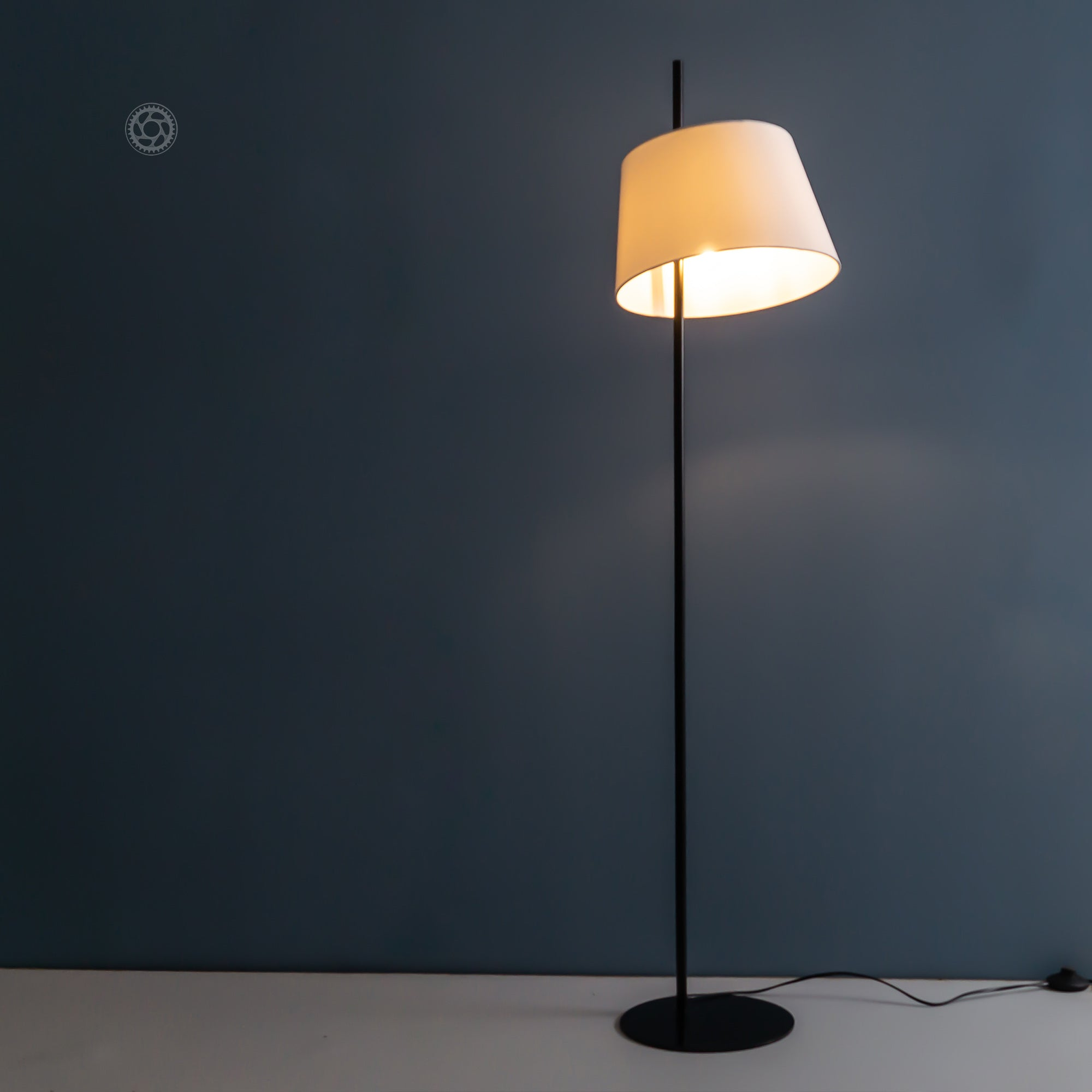 Nordic Black Metal Floor Lamp - The Black Steel