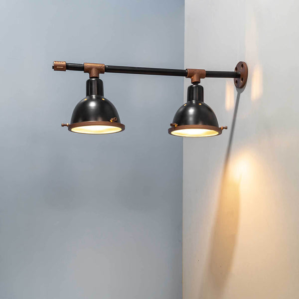 Mechanist N102 Wall Mounted Bar & Cafe Lighting Design Fixture - The Black Steel
