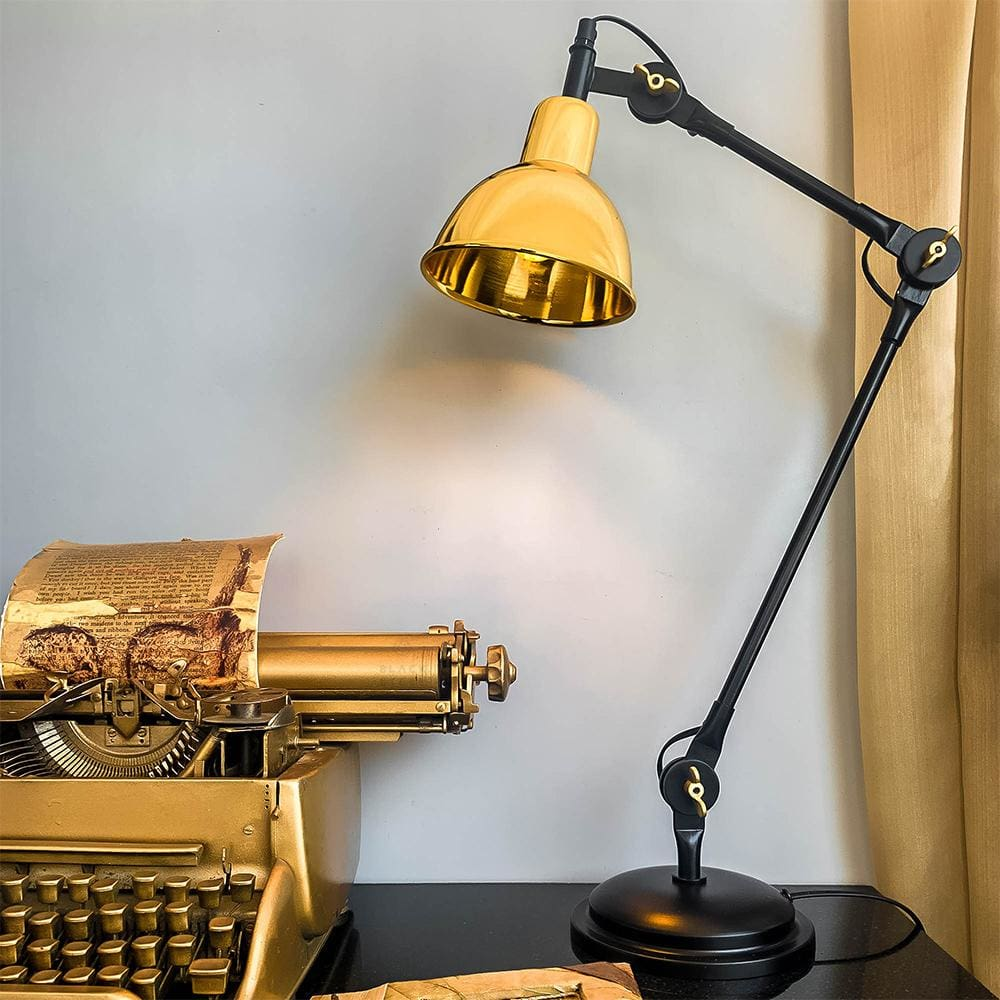 Age Of Gold Luxury Desk Lamp - The Black Steel