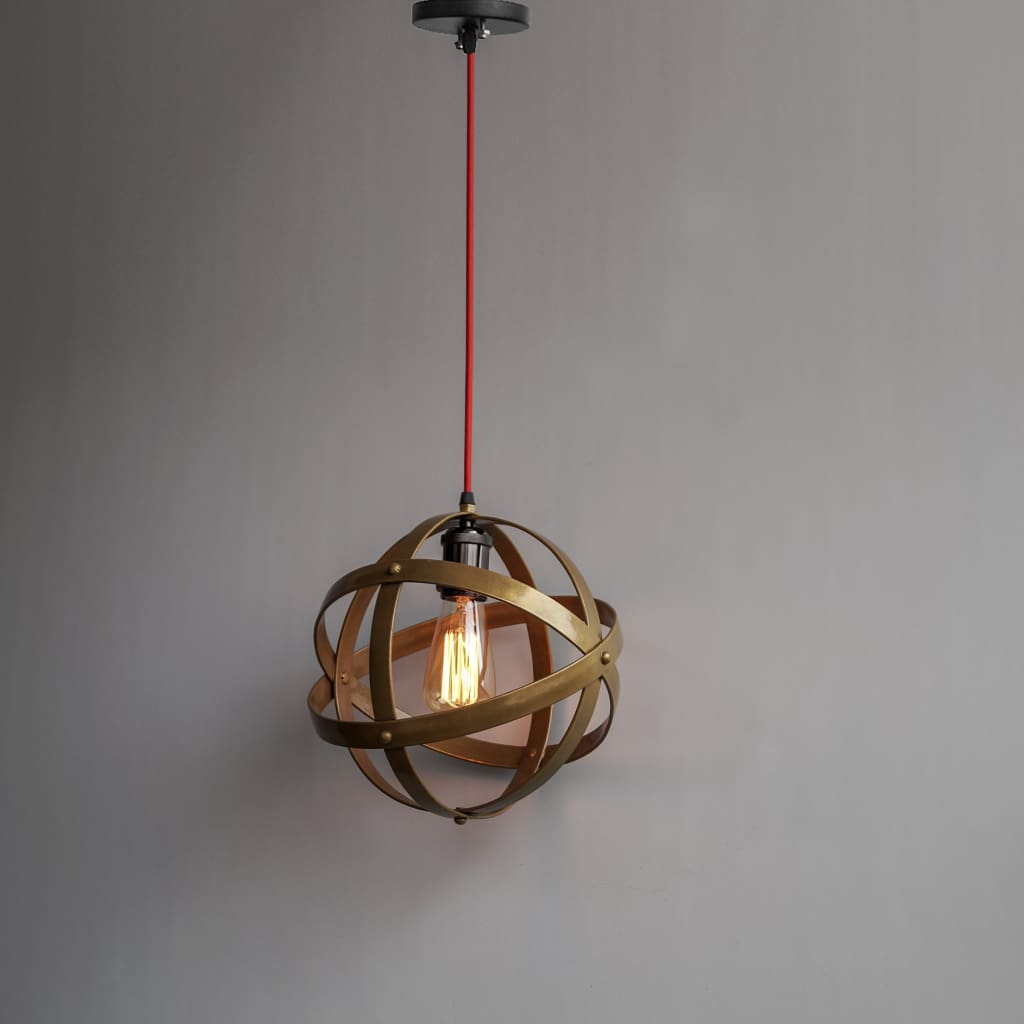 Matte Gold Lampshade Armillary Design 11