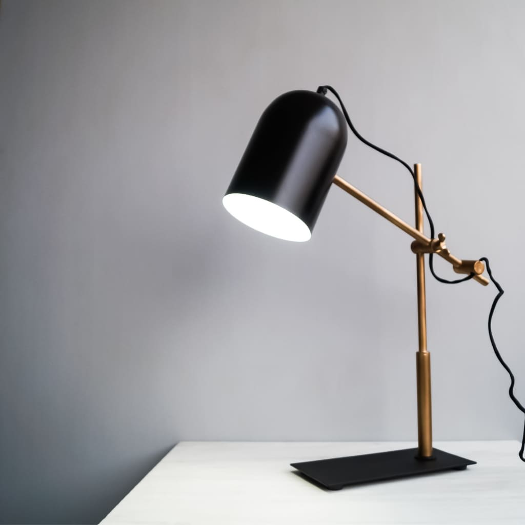 FDL107 Architect Black-Gold Modern Office Desk Lamp