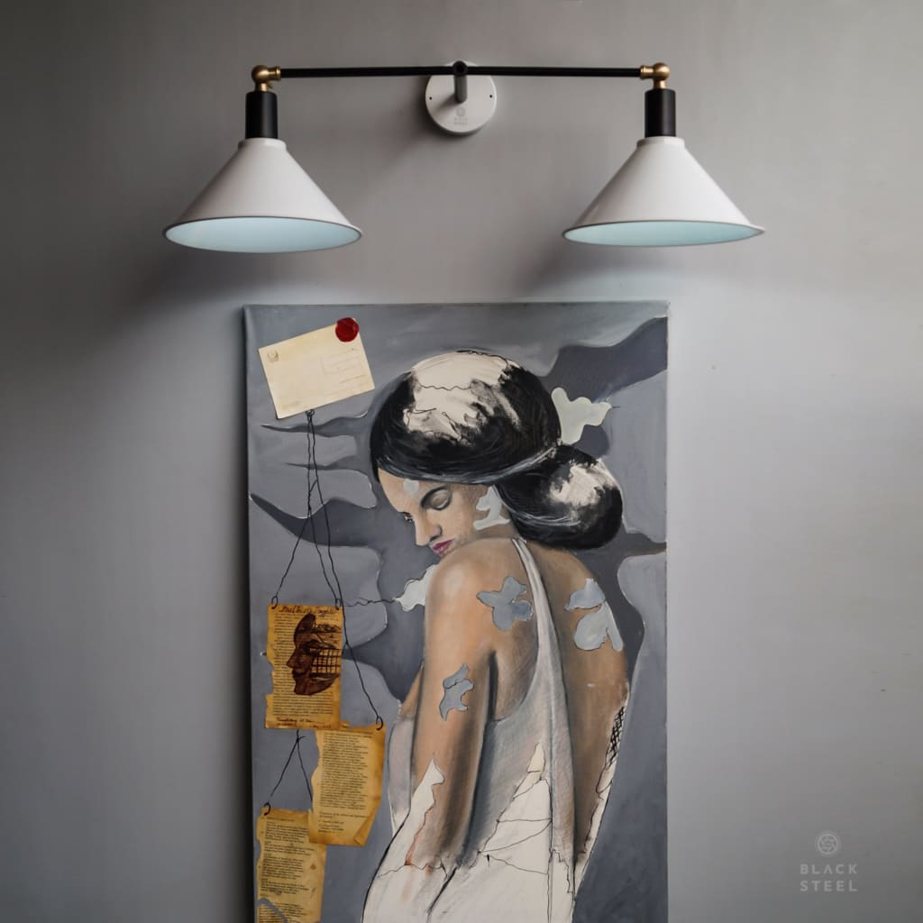 CWS113 Art Studio Double-Shade Lamp Wall Sconce