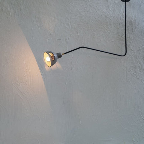Beale 25Degrees Grey Concrete Lamp - The Black Steel