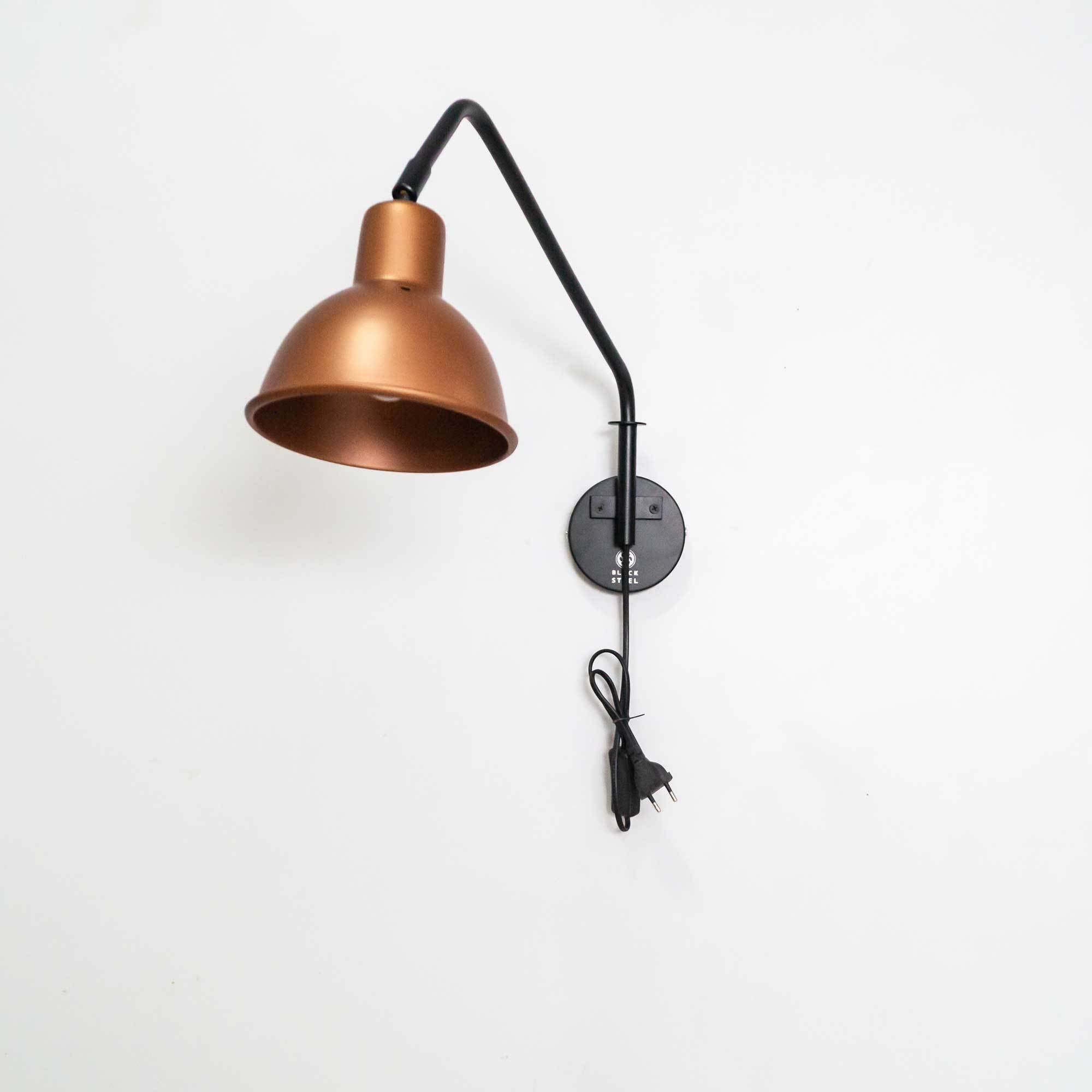 FSW 201 Swivel Arm Wall Mounted Light Fixture - The Black Steel