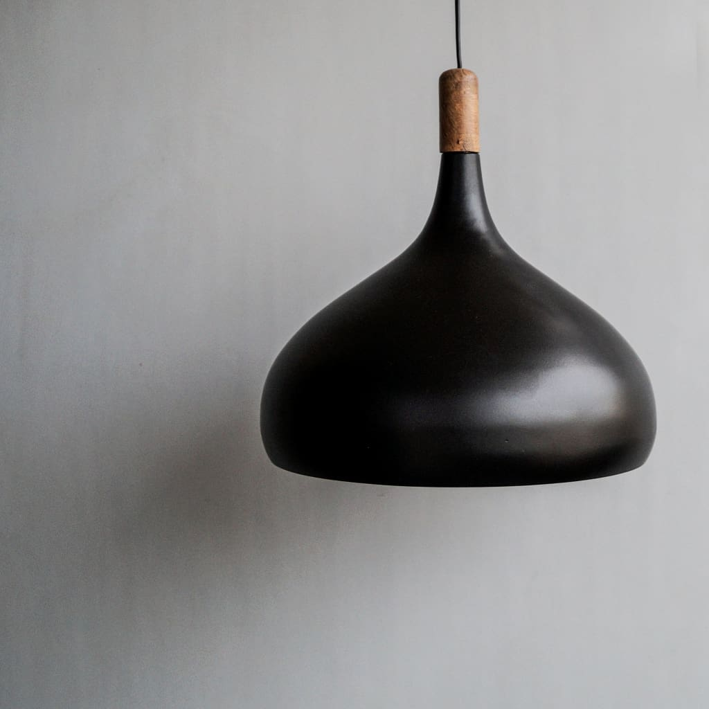 Black Dome Shape Urban Modern Interior Ceiling Pendant Lighting