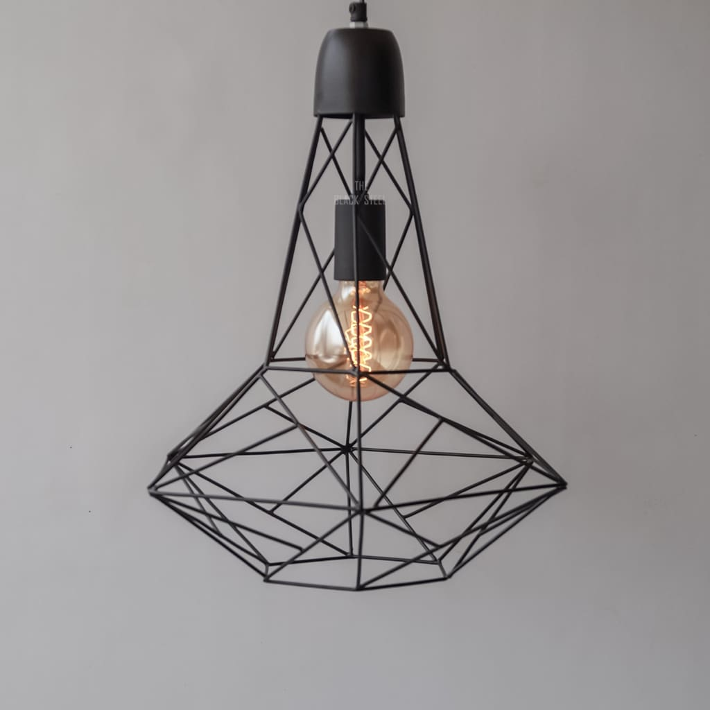 Black Industrial Geometric Pendant Lighting Retro Ceiling Lamp V2.0