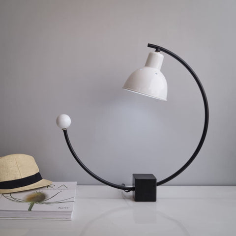 Blanc Art Deco Table Lamp - The Black Steel