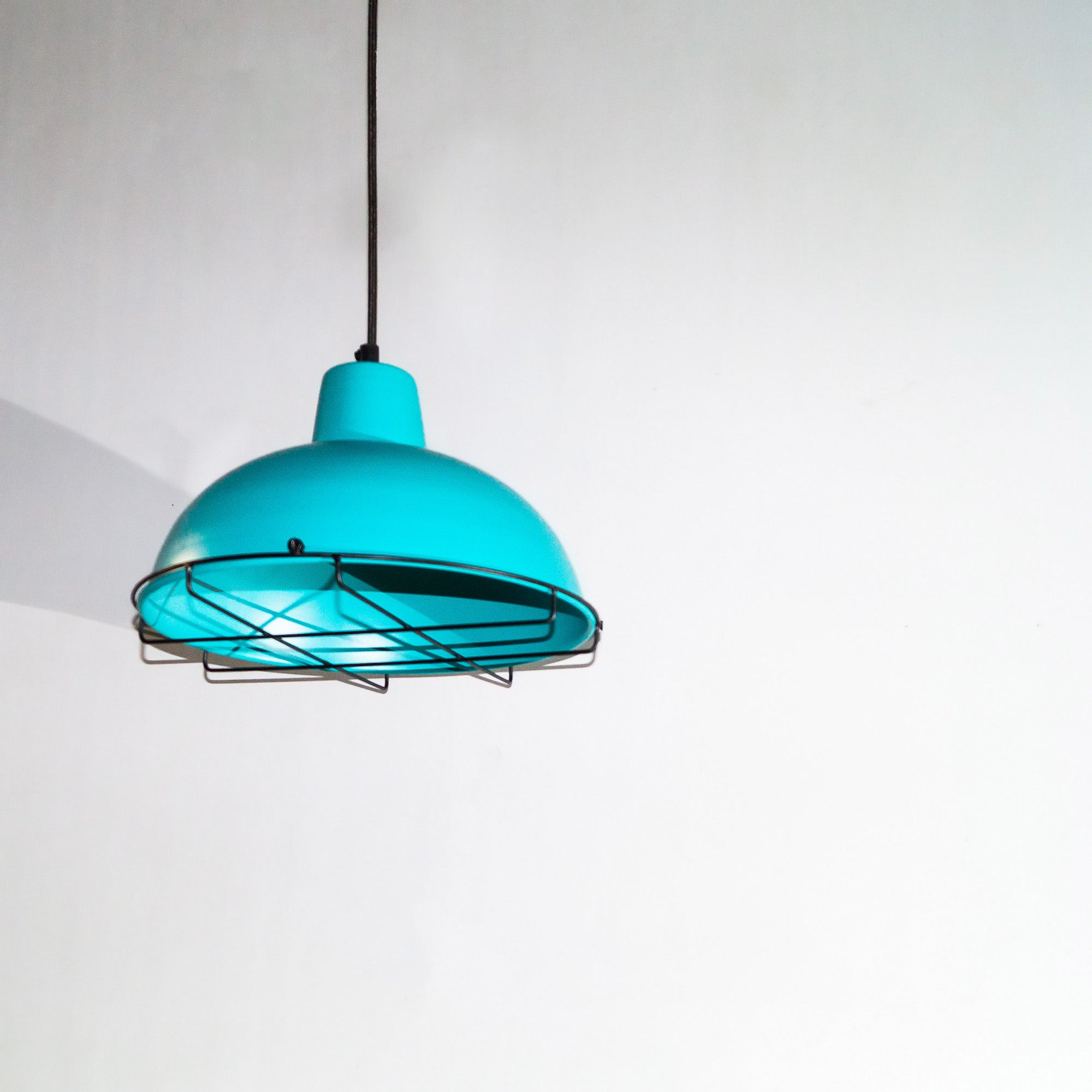 CLH110 Turquoise Blue Industrial Hanging Lamp