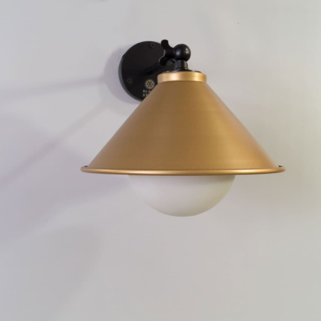 Bohemian Loft Interior Wall Sconce In Gold - The Black Steel