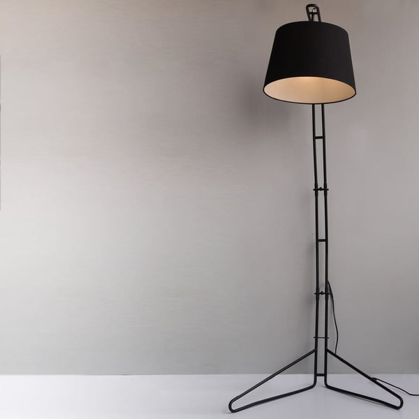 Broadway Mid-Century Black Floor Lamp - The Black Steel