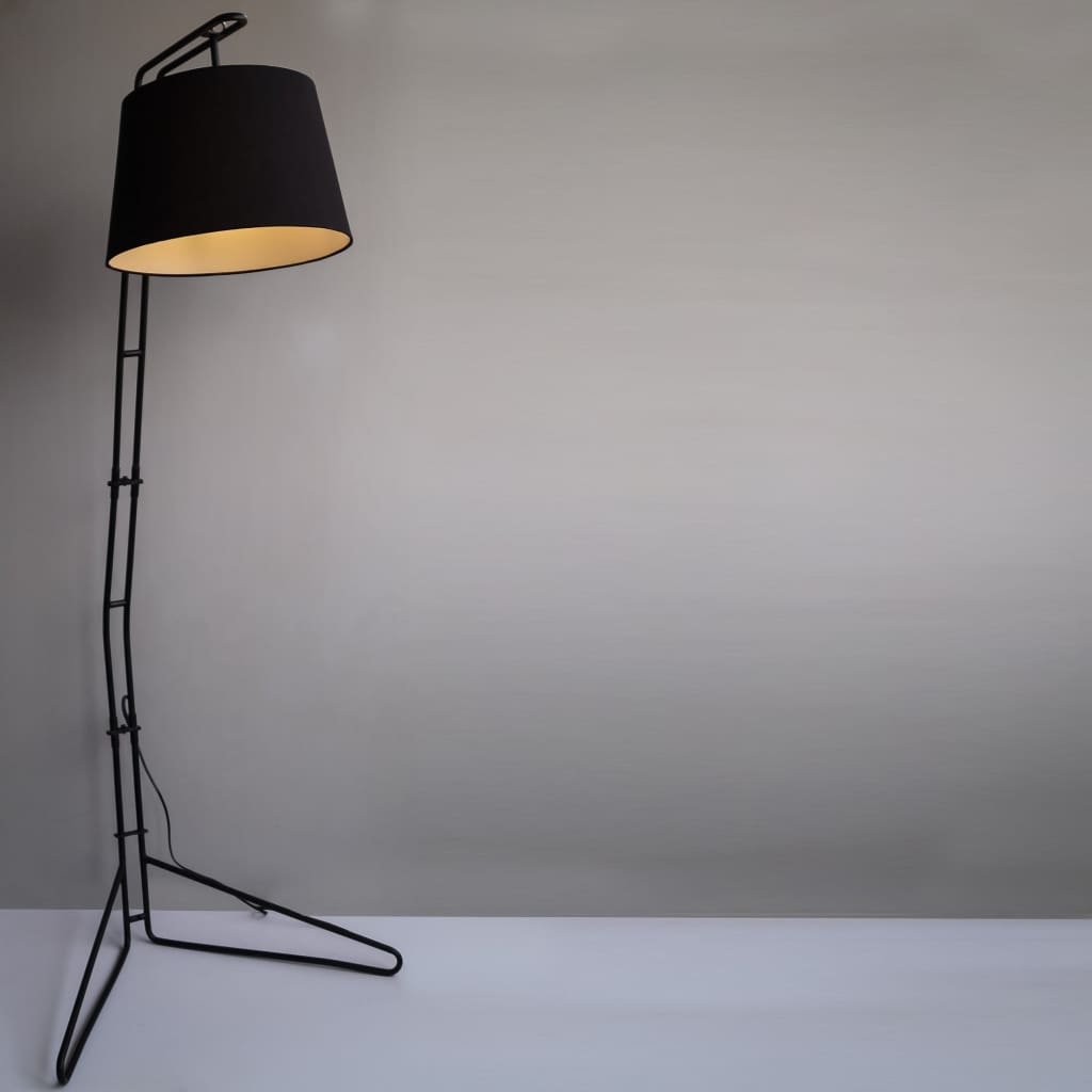 Broadway Mid-Century Black Floor Lamp