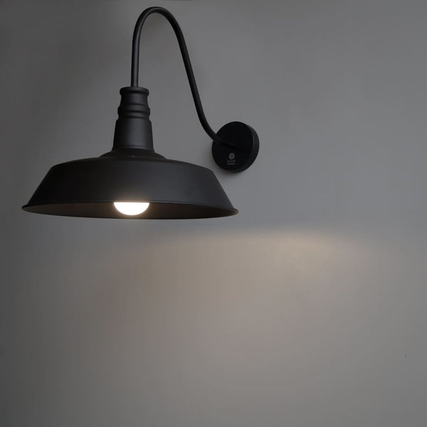 C22 Wall Lamp Black Rustic Interior Design Idea - The Black Steel