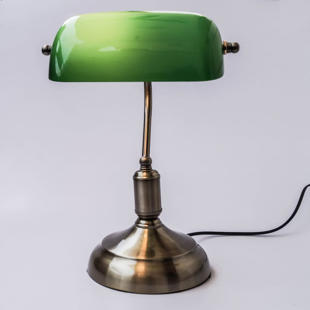 Classic Banker Style Desk Lamp - The Black Steel