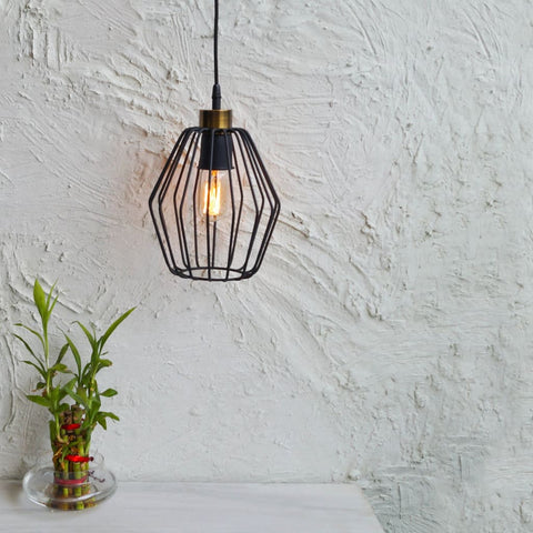 Cobweb Industrial Pendant Lamp - The Black Steel