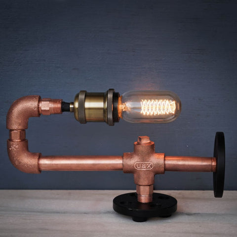 Copper CU29 Industrial Desk Lamp - The Black Steel