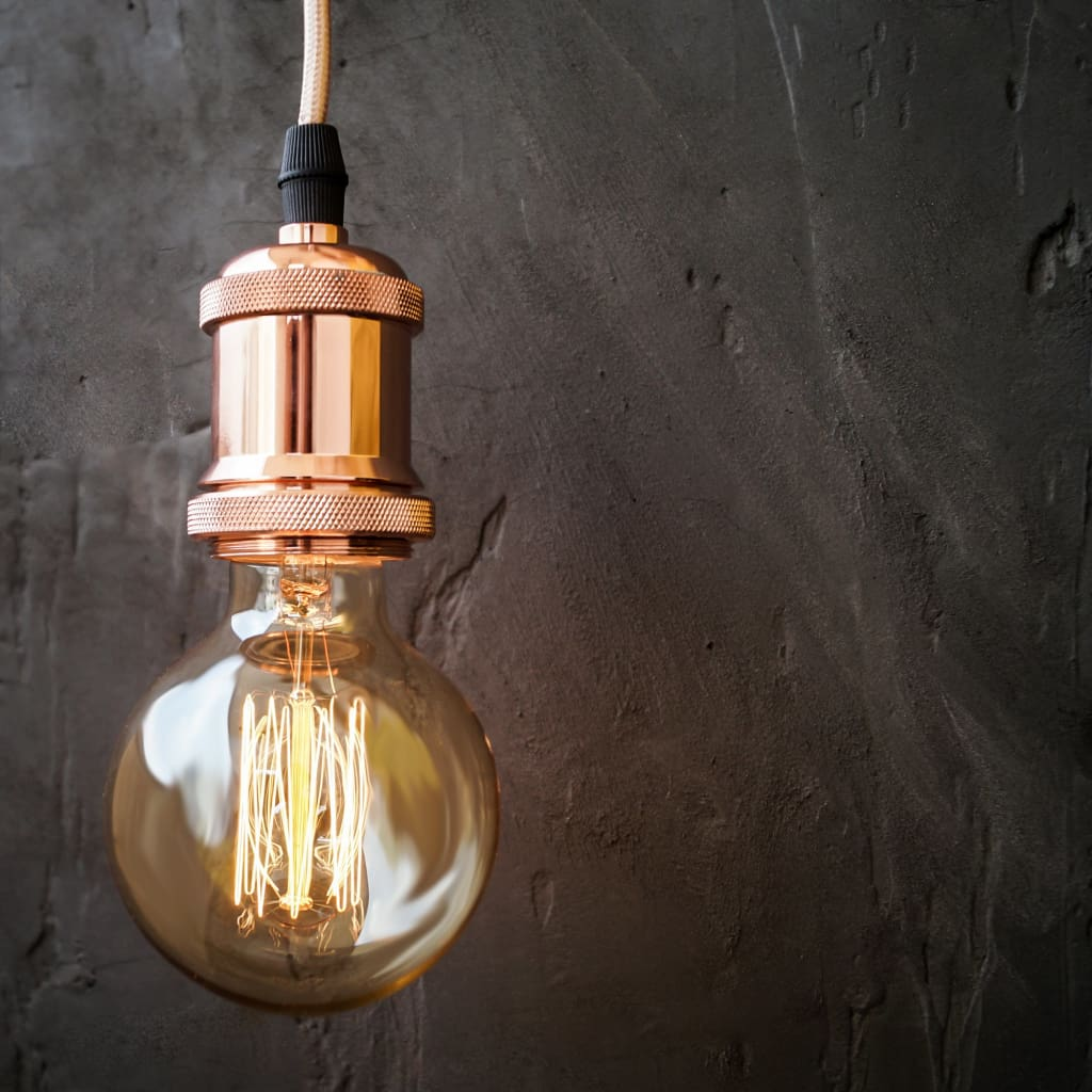 Copper Vintage E27 Socket  Retro Edison Pendant Lamp Holder