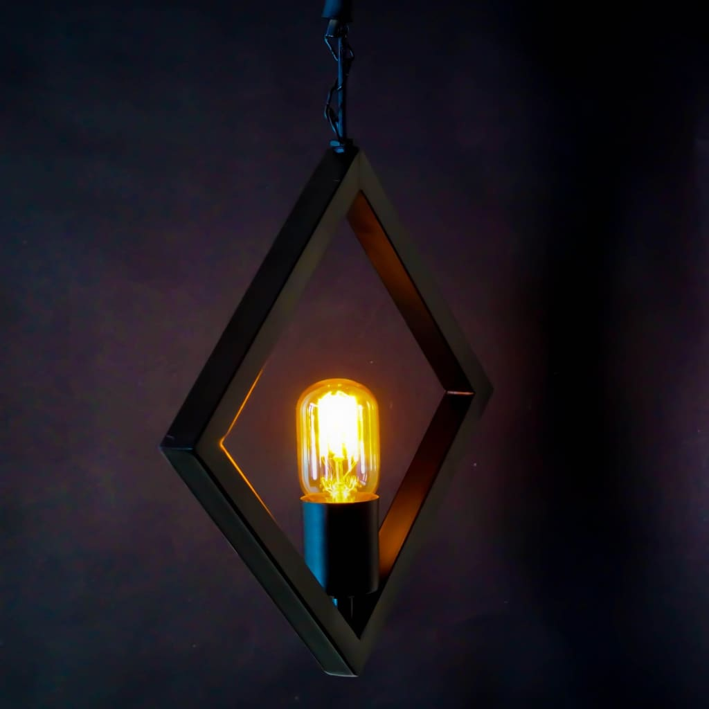 Diamond Frame Geometric Industrial Ceiling Pendant