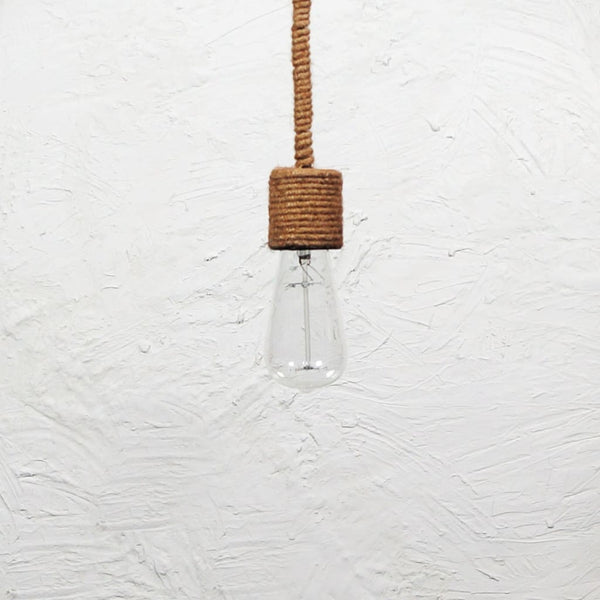 Drop Line Classic Rope Pendant Light - The Black Steel