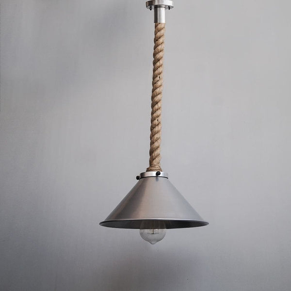 Fairfield Ash Grey Pendant Light Fixture - The Black Steel