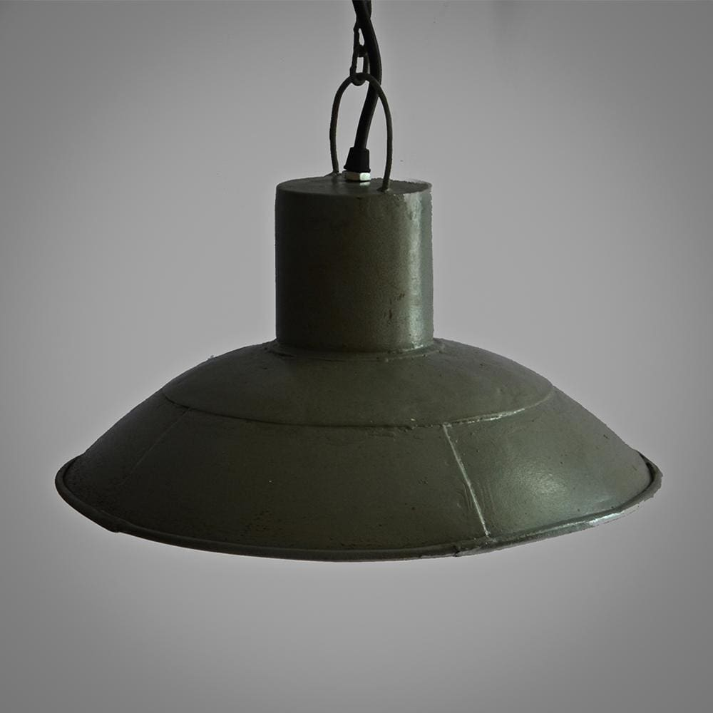 Farmhouse Interior Style Decor Industrial Grey Ceiling Pendant Lamp - The Black Steel