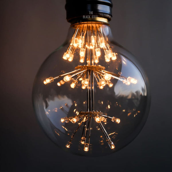 G80 Retro Edison Tungsten Starry LED Filament Bulb - The Black Steel