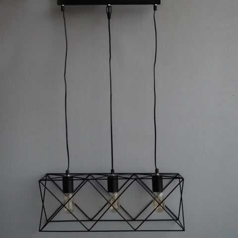 Geometric Royale Industrial Lamp v2.0 - The Black Steel