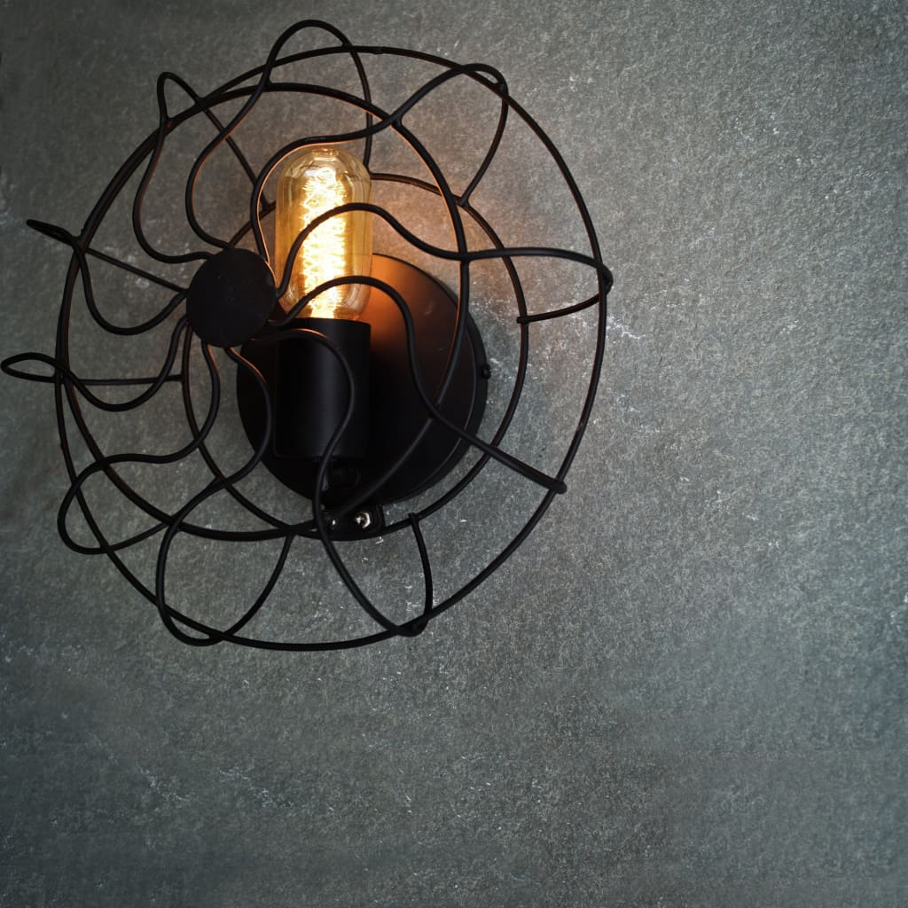 Geometric Wave Industrial Wall Sconce