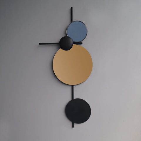 Geometrical Abyss Wall Art Decor - The Black Steel