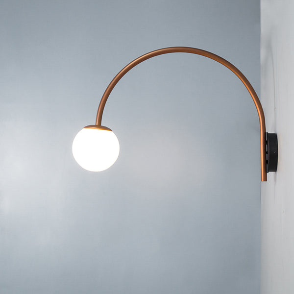 Dijon Curved Wall Lamp Copper - The Black Steel