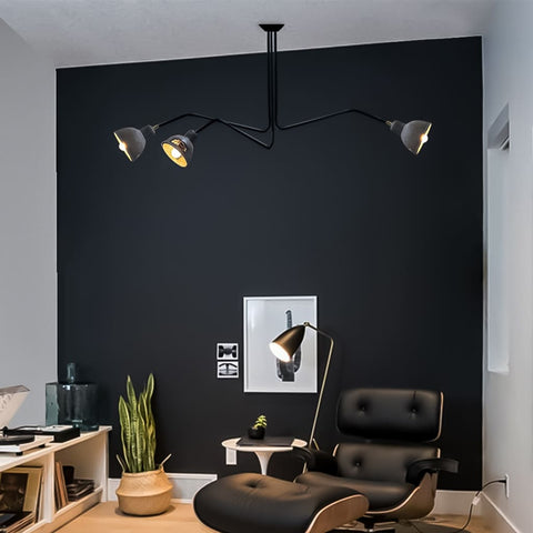 Grandiose Concrete Modern Chandelier For Living Room - The Black Steel
