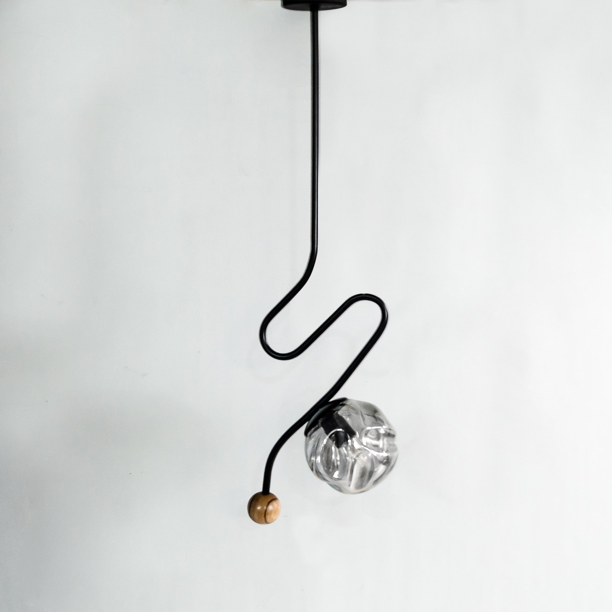 Wave Black Hanging Light - The Black Steel