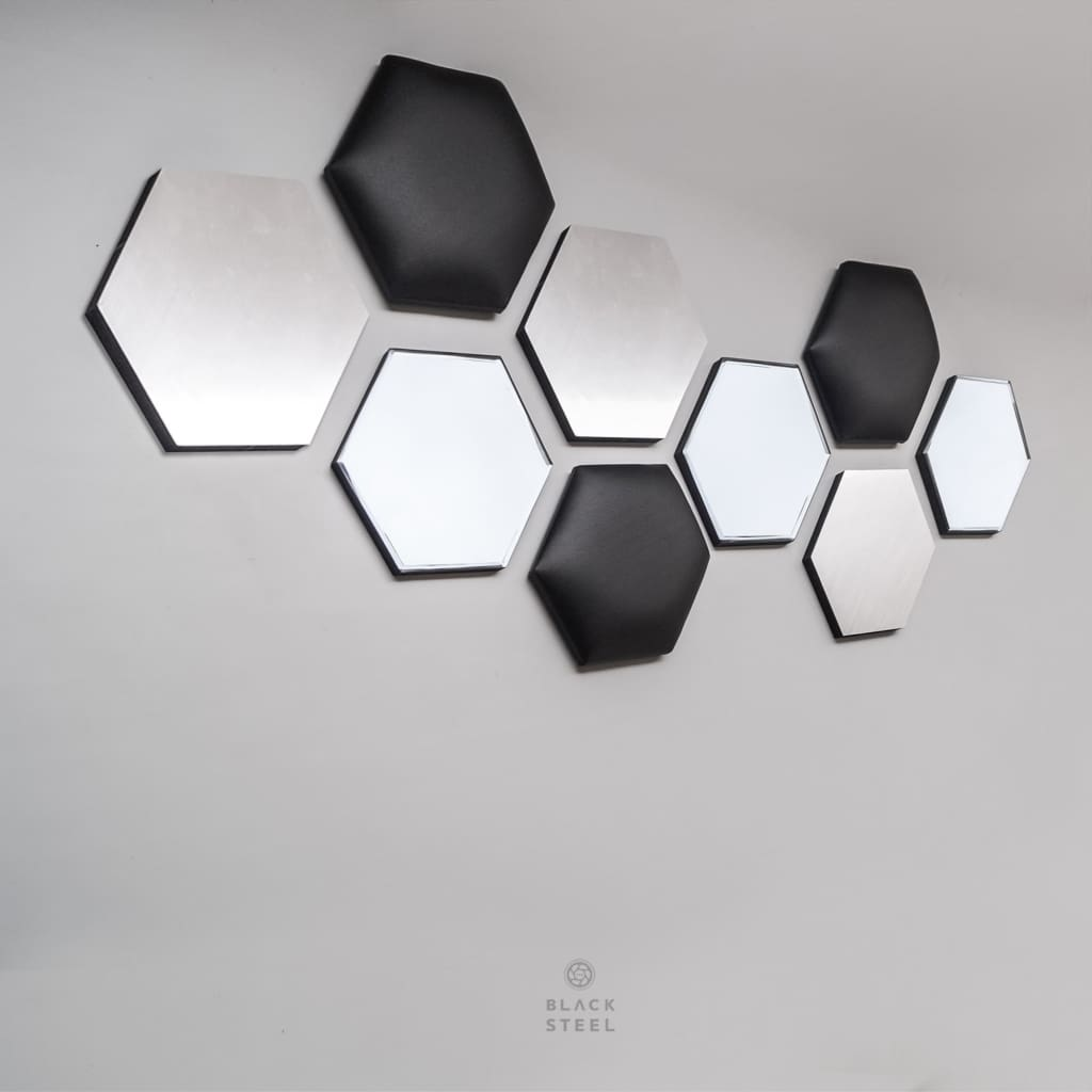 Honeycomb Hexagon Wall Decor - The Black Steel