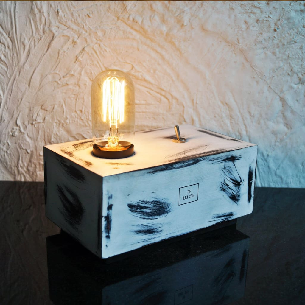 CDL106 Iceberg White Box Desk Industrial Lamp