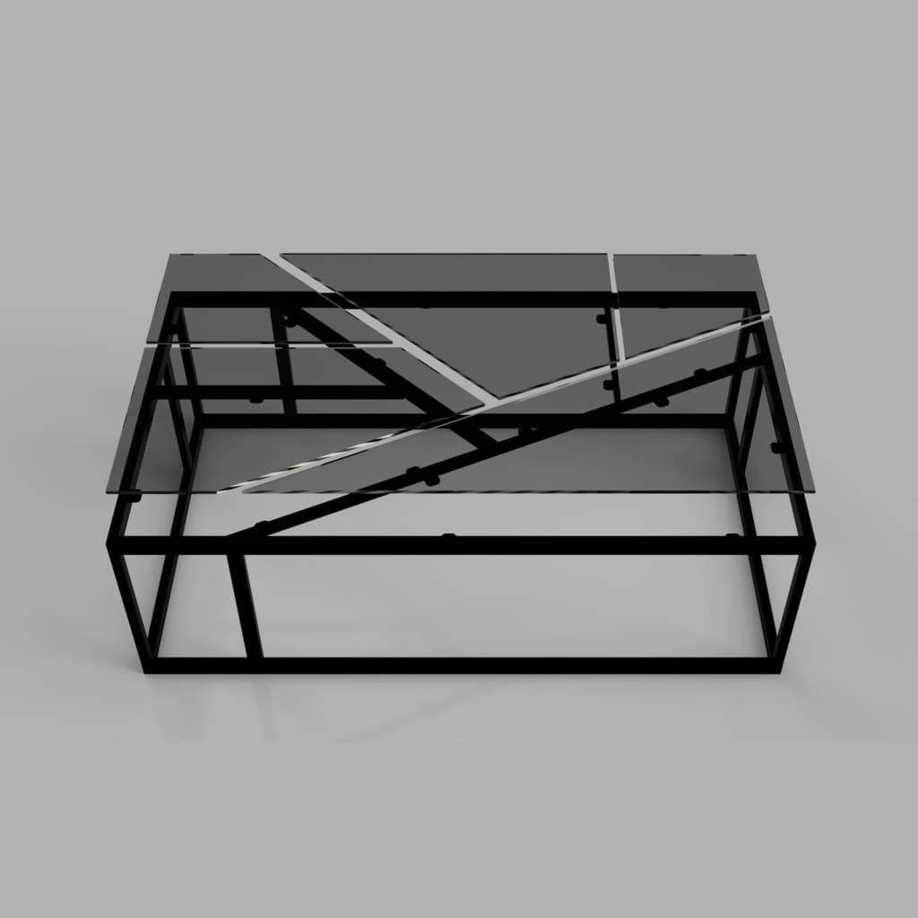 Industrial Coffee Table - The Black Steel