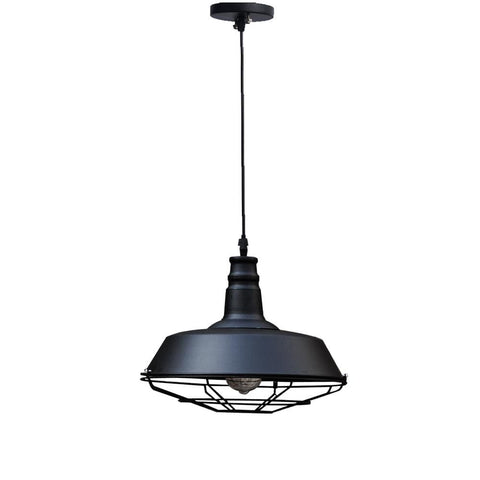 Industrial Retro C21 Lamp - The Black Steel