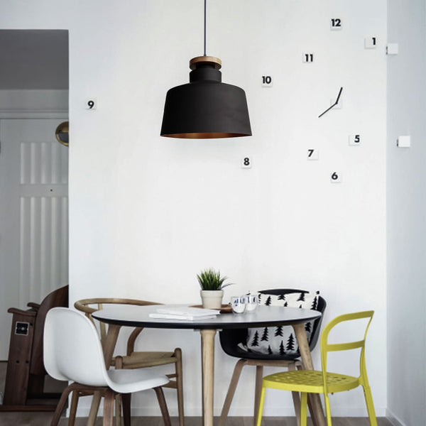 Kuppel Modern Black Pendant Scandinavian Interior Design Ceiling Lamp - The Black Steel