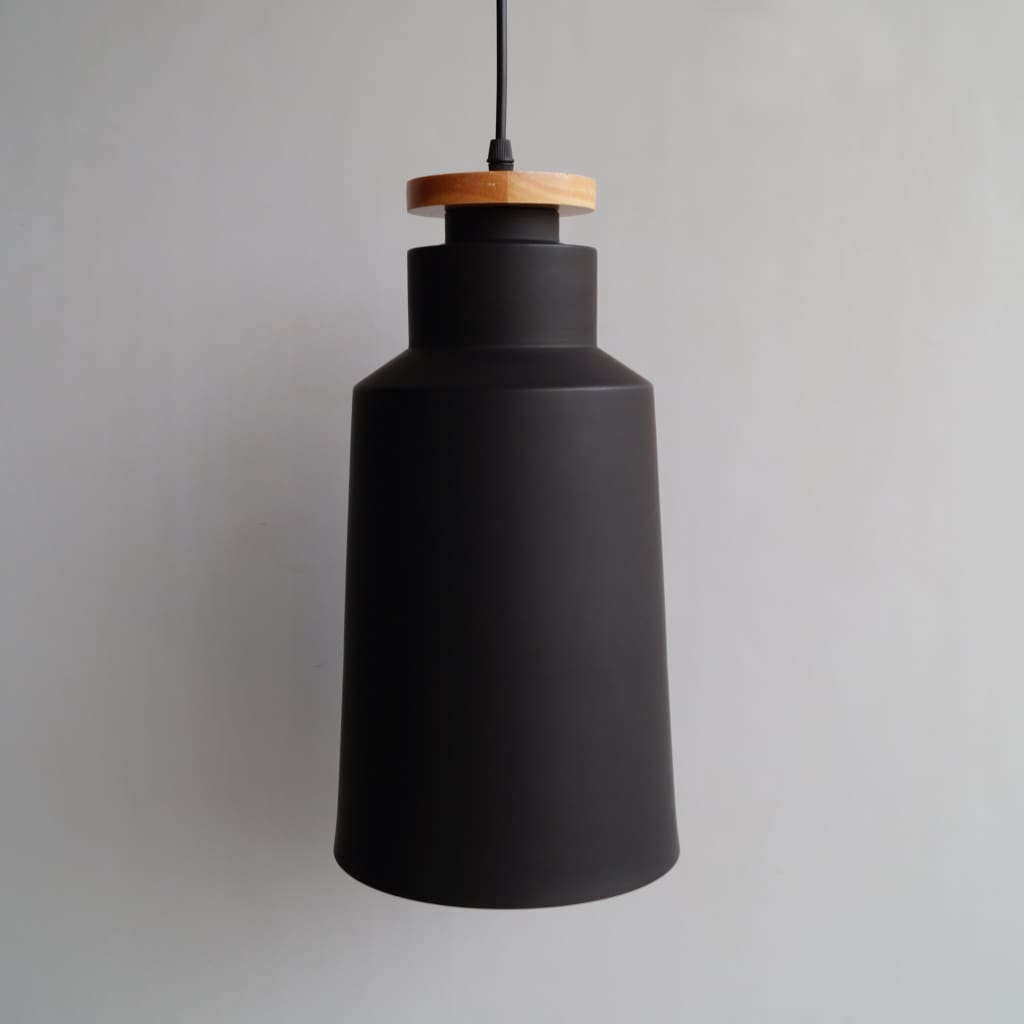 L11 Cylindrical Modern Black Pendant Scandinavian Interior Design Ceiling Lamp