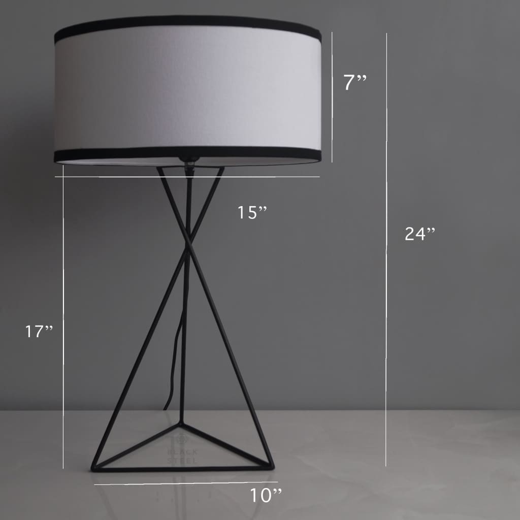 Latin Quarter Modern Design Bedside Lamp - The Black Steel