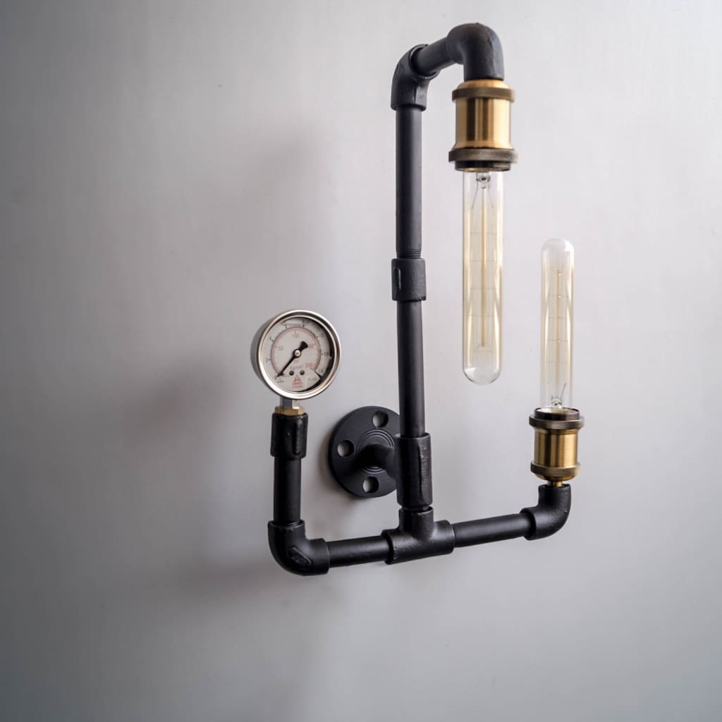 Machine Age Industrial 2 Light Wall Sconce